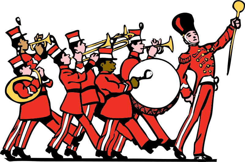 Happy thanksgiving country band clipart svg royalty free Public domain clipart - marching band by johnny_automatic - cartoon ... svg royalty free