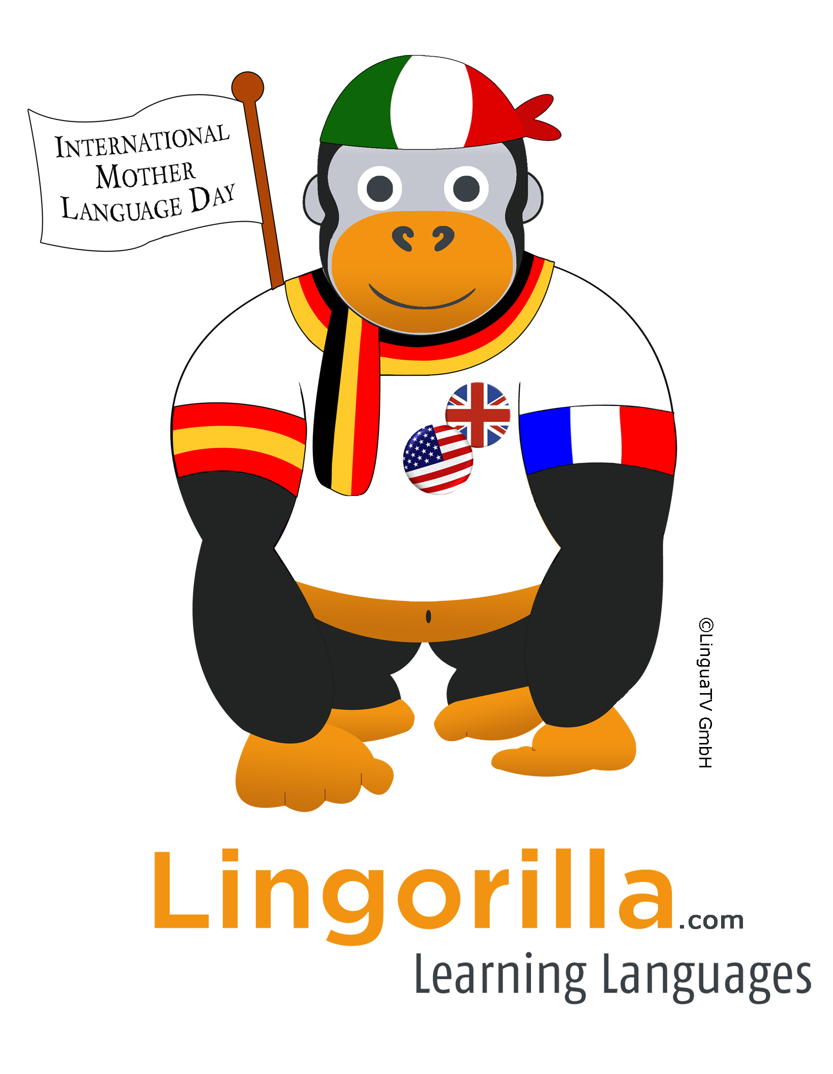 Happy thanksgiving espanol clipart graphic black and white stock At Lingorilla we celebrate the INTERNATIONAL #MOTHER #LANGUAGE DAY ... graphic black and white stock
