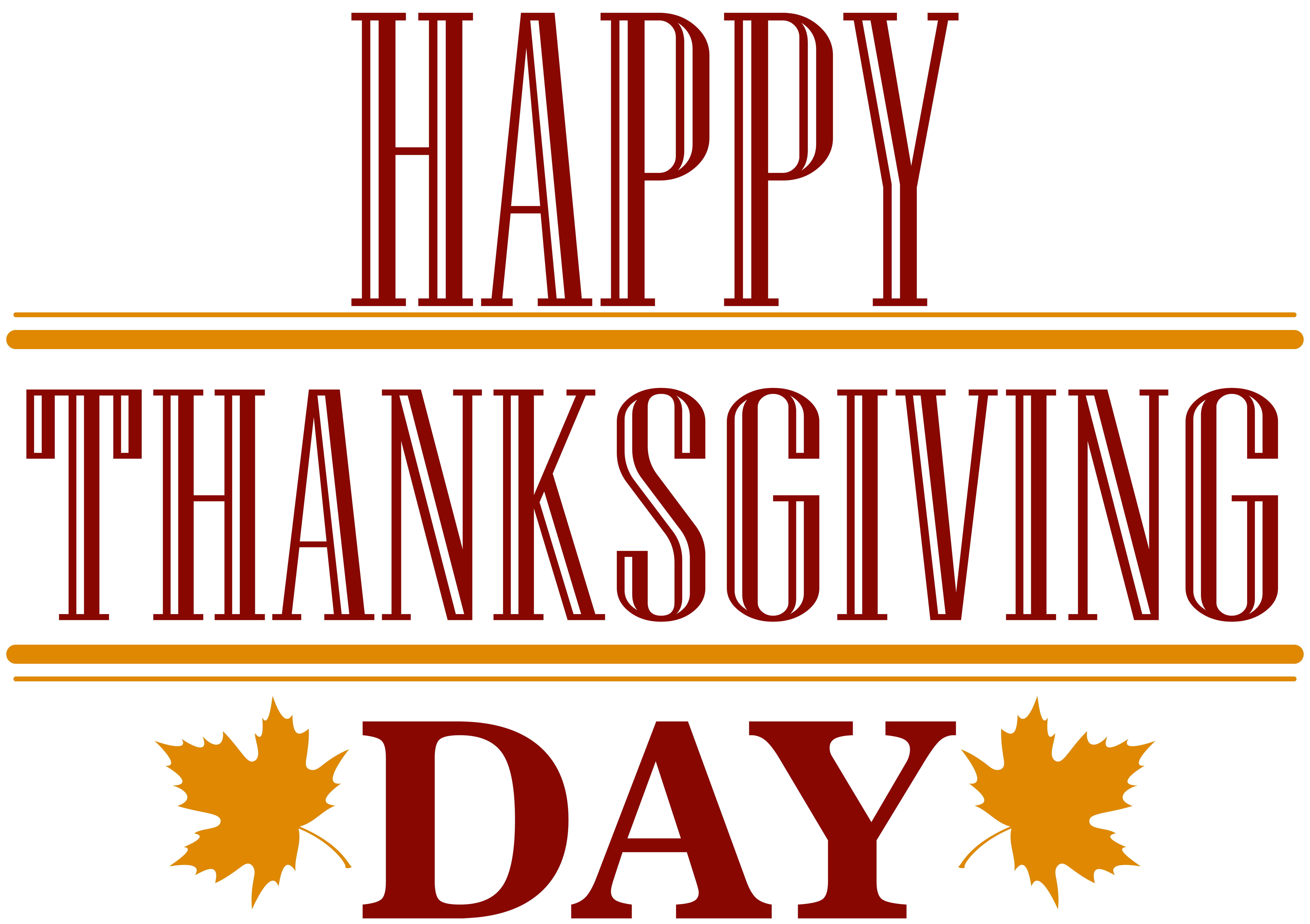 Happy thanksgiving free clipart jpg black and white download Happy Thanksgiving Day Text PNG Image | Gallery Yopriceville - High ... jpg black and white download