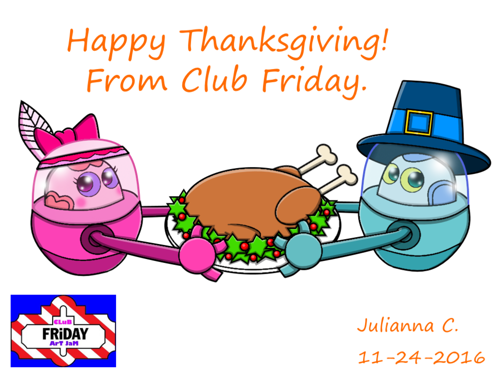 Happy thanksgiving indian clipart picture transparent library Happy Thanksgiving from Club Friday! by Carebeargirl99 on DeviantArt picture transparent library