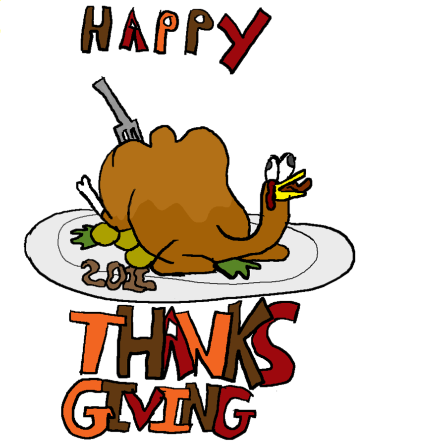 Happy thanksgiving town clipart clip art library stock Happy Thanksgiving 2011 by Krispina-The-Derp on DeviantArt clip art library stock