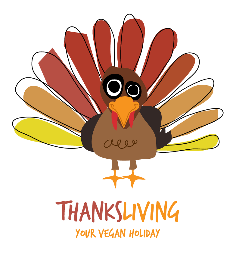 Happy thanksgiving vegan clipart jpg freeuse library Happy ThanksLiving jpg freeuse library