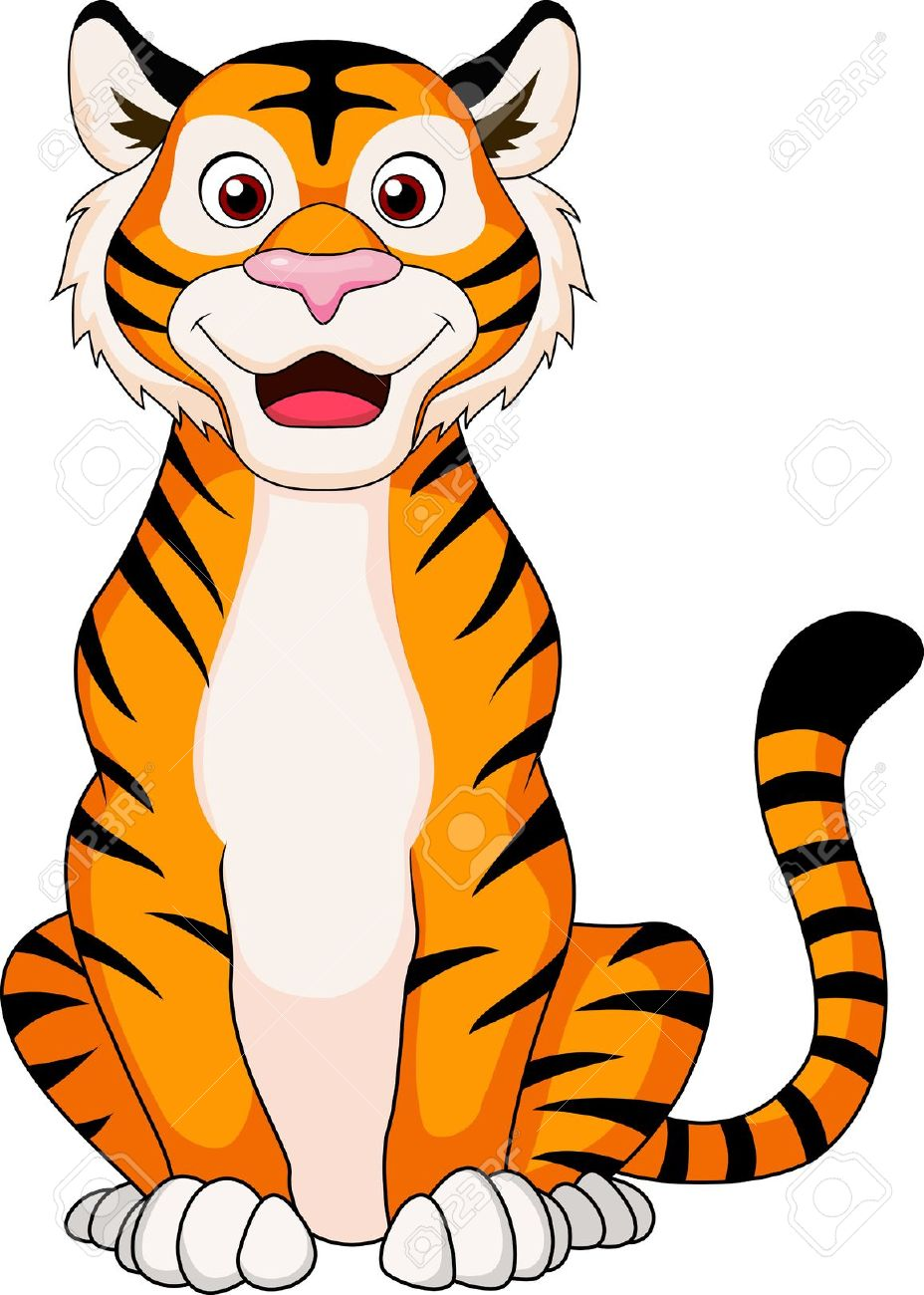 Happy tiger clipart black and white download Tiger Clipart | Free download best Tiger Clipart on ClipArtMag.com black and white download