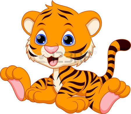 Happy tiger clipart graphic free Baby tiger happy tiger clipart images image #17783 graphic free