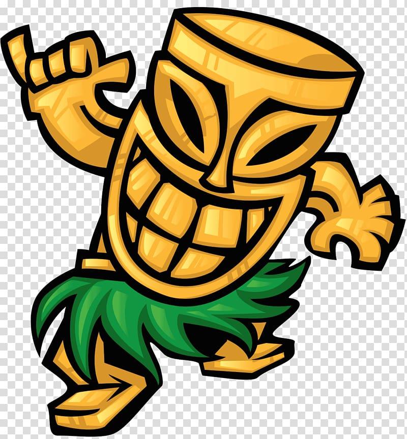 Happy tiki clipart transparent library Tiki illustration, Tiki bar Cuisine of Hawaii Hawaiian, mask ... transparent library