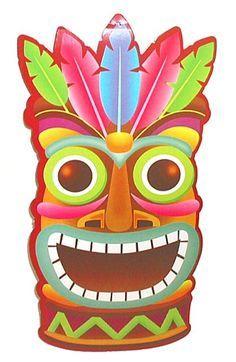 Tiki icon clipart vector download Hawaiian Tiki Clipart | LUAU PARTY | Hawaiian party decorations ... vector download