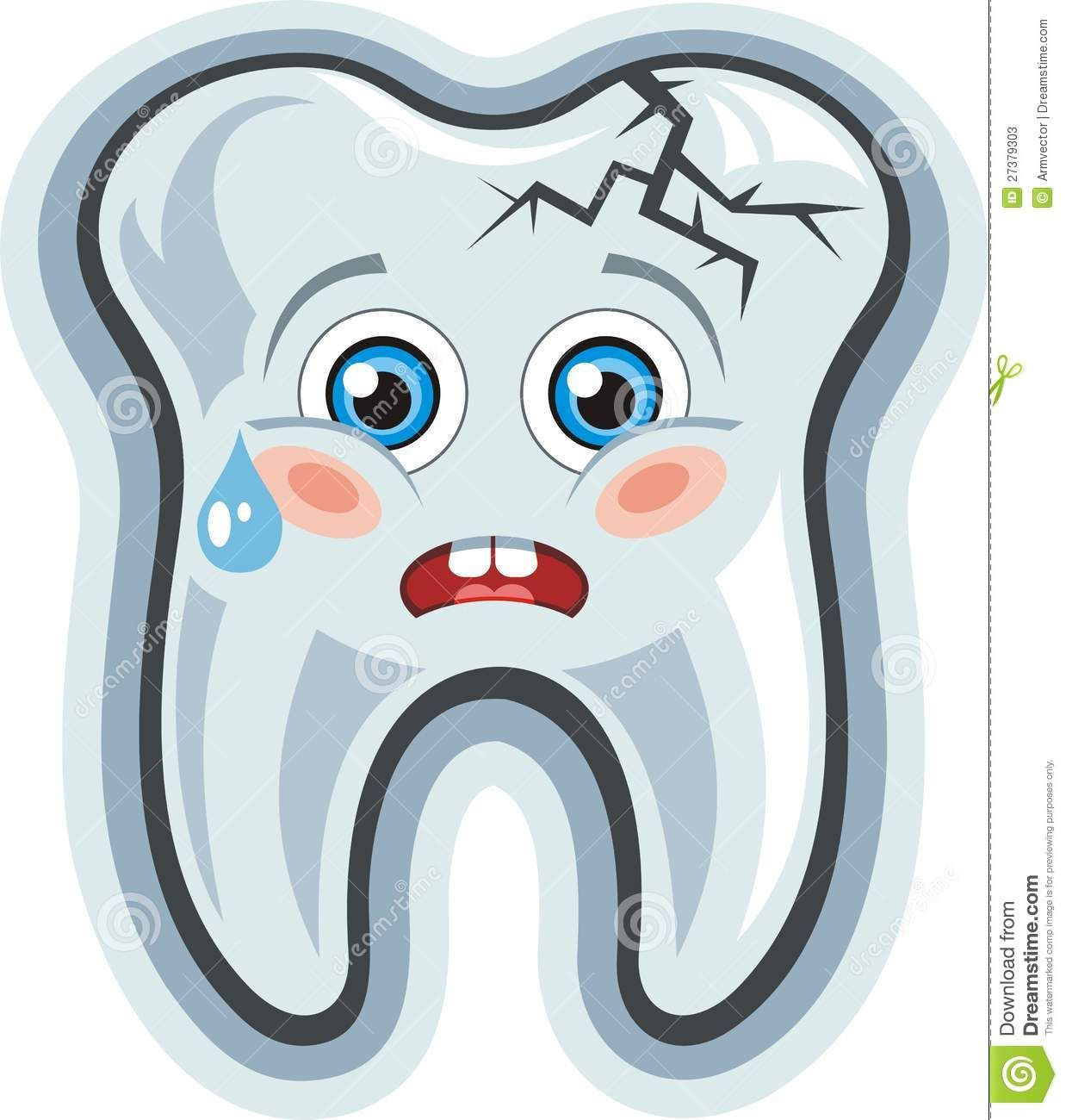 Happy tooth clipart picture library Happy Tooth Clip Art | Vector. Cartoon cute crying tooth.Toothache ... picture library