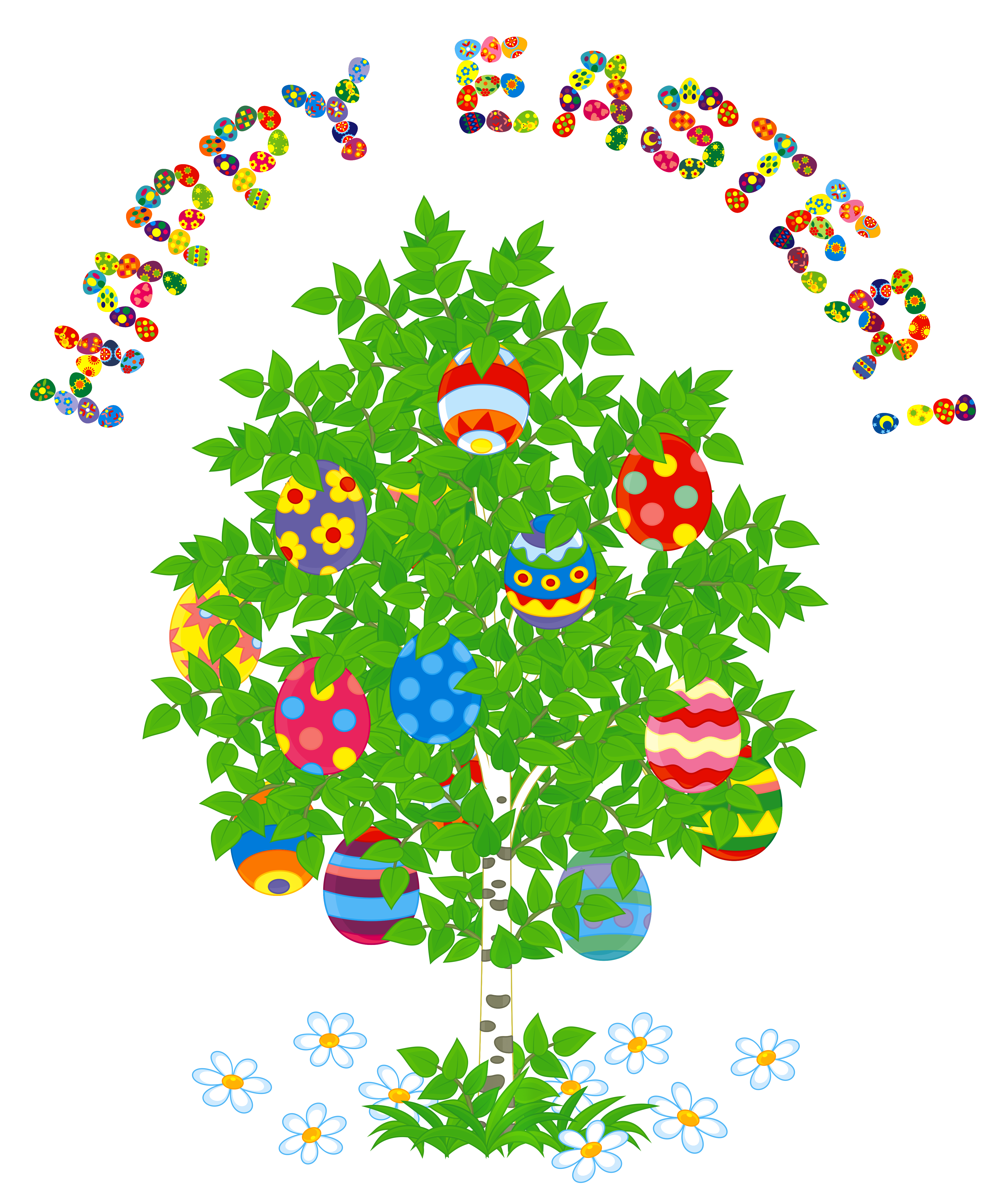 Happy tree clipart picture royalty free stock Happy Easter and Egg Tree PNG Clipart Picture | Gallery ... picture royalty free stock