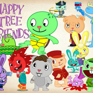 Happy tree friends clipart banner royalty free download 42 Happy Tree Friends Clipart PNG Digital Graphic Happy Tree Friends Clip  Art Scrapbook Clipart Invitation INSTANT DOWNLOAD printable 300dpi banner royalty free download