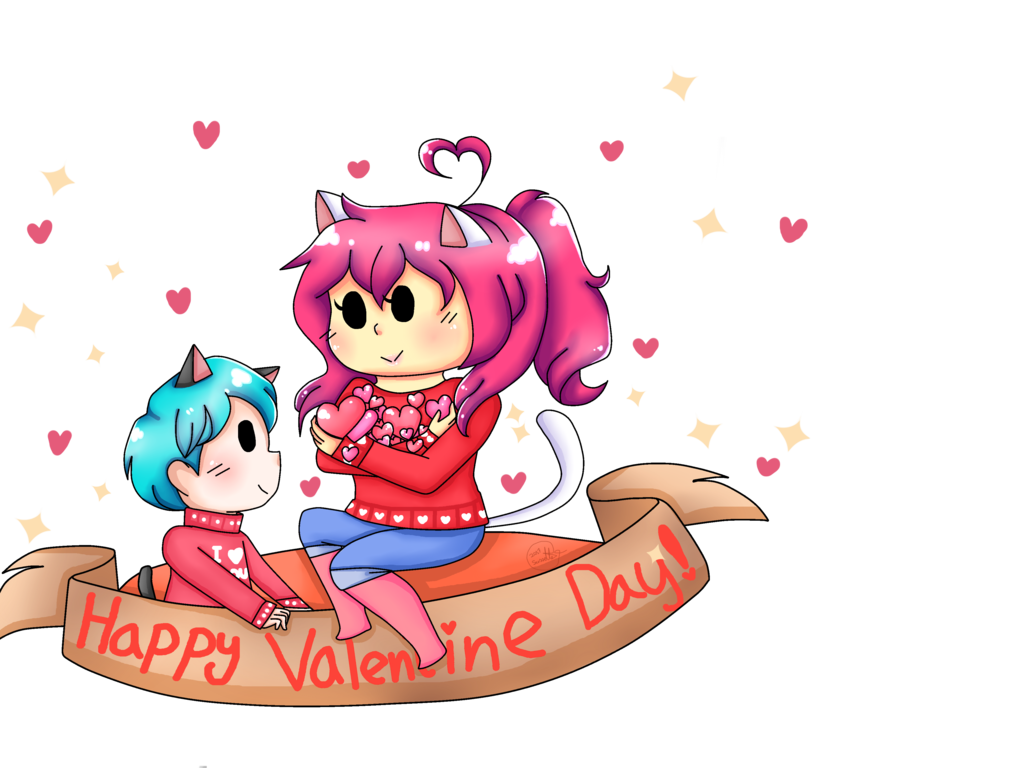 Happy valentine cat clipart png freeuse library Happy Valentines Day GAMERCAT #NYAN!! by GaMeRCaTNYAN27 on DeviantArt png freeuse library
