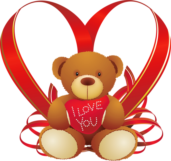 Happy valentine cat clipart clip transparent Red Heart with Teddy Bear PNG Clipart | Pekné obrázky | Pinterest ... clip transparent