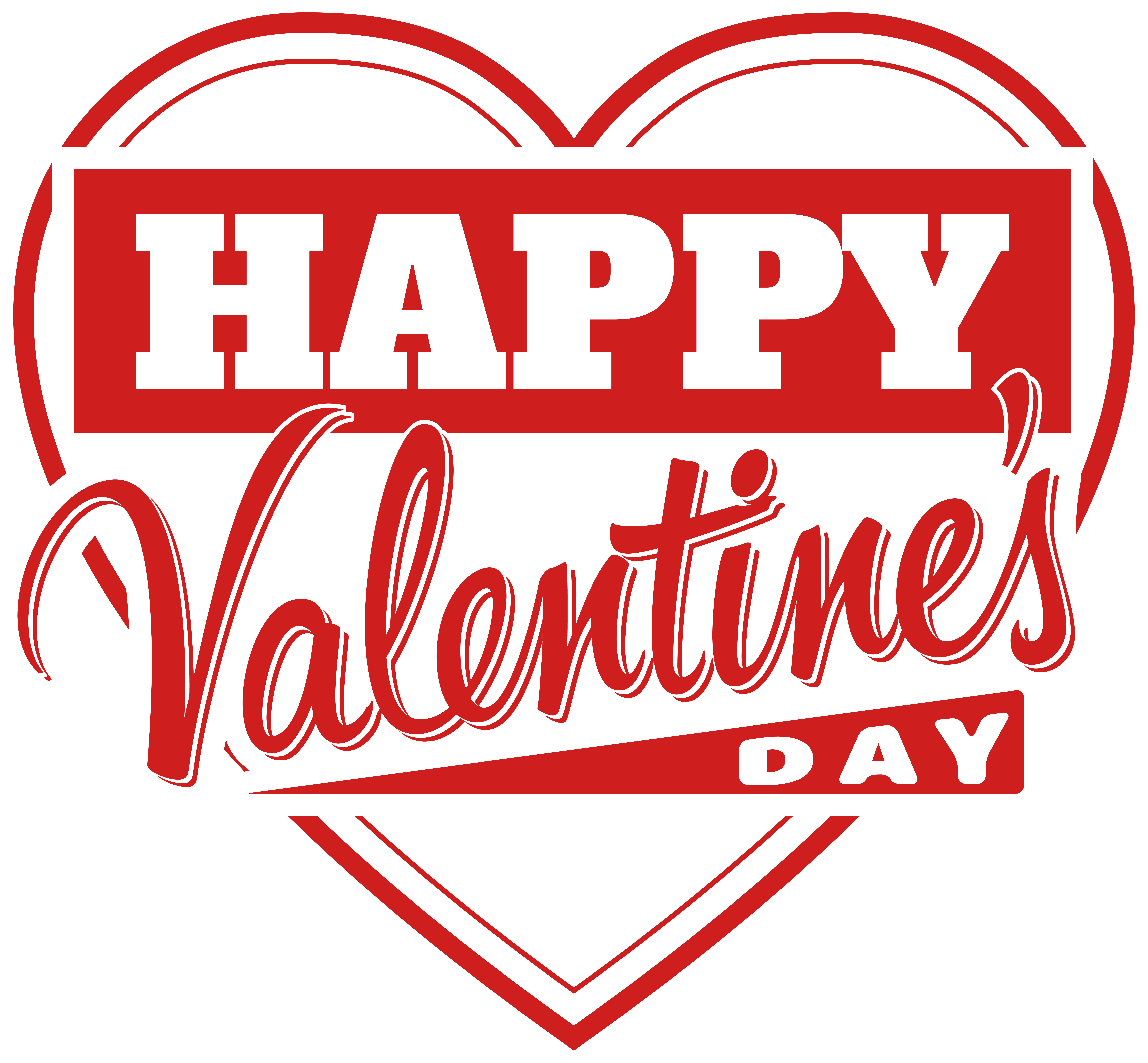 Happy valentine clipart vector royalty free Happy Valentine\'s Day Heart Transparent PNG Clip Art Image ... vector royalty free