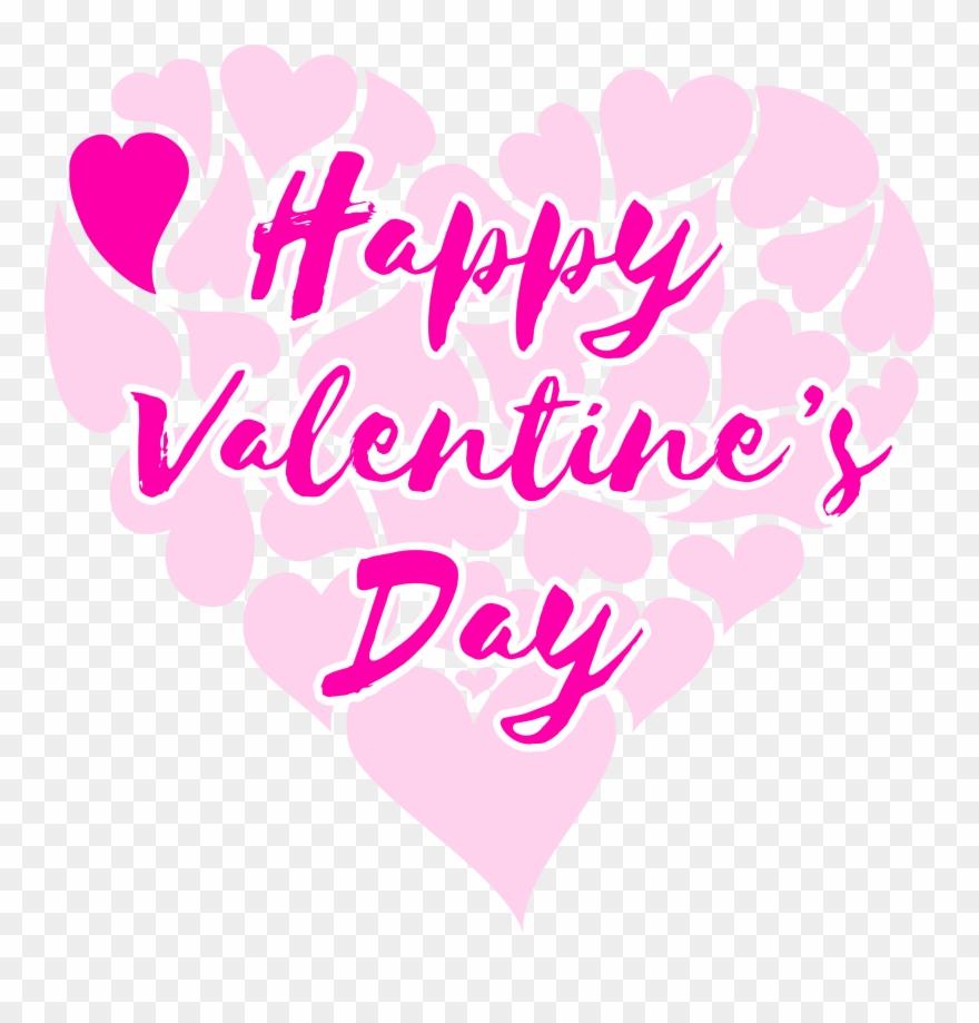 Happy valentine clipart clipart stock Clipart Happy Valentine 039 S Day Title With Hearts - Happy ... clipart stock