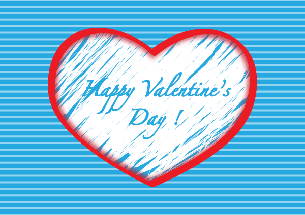 Happy valentines day clipart with blue hearts clipart library library Red heart clipart | 420 Free vector graphic images | Free-Vectors clipart library library