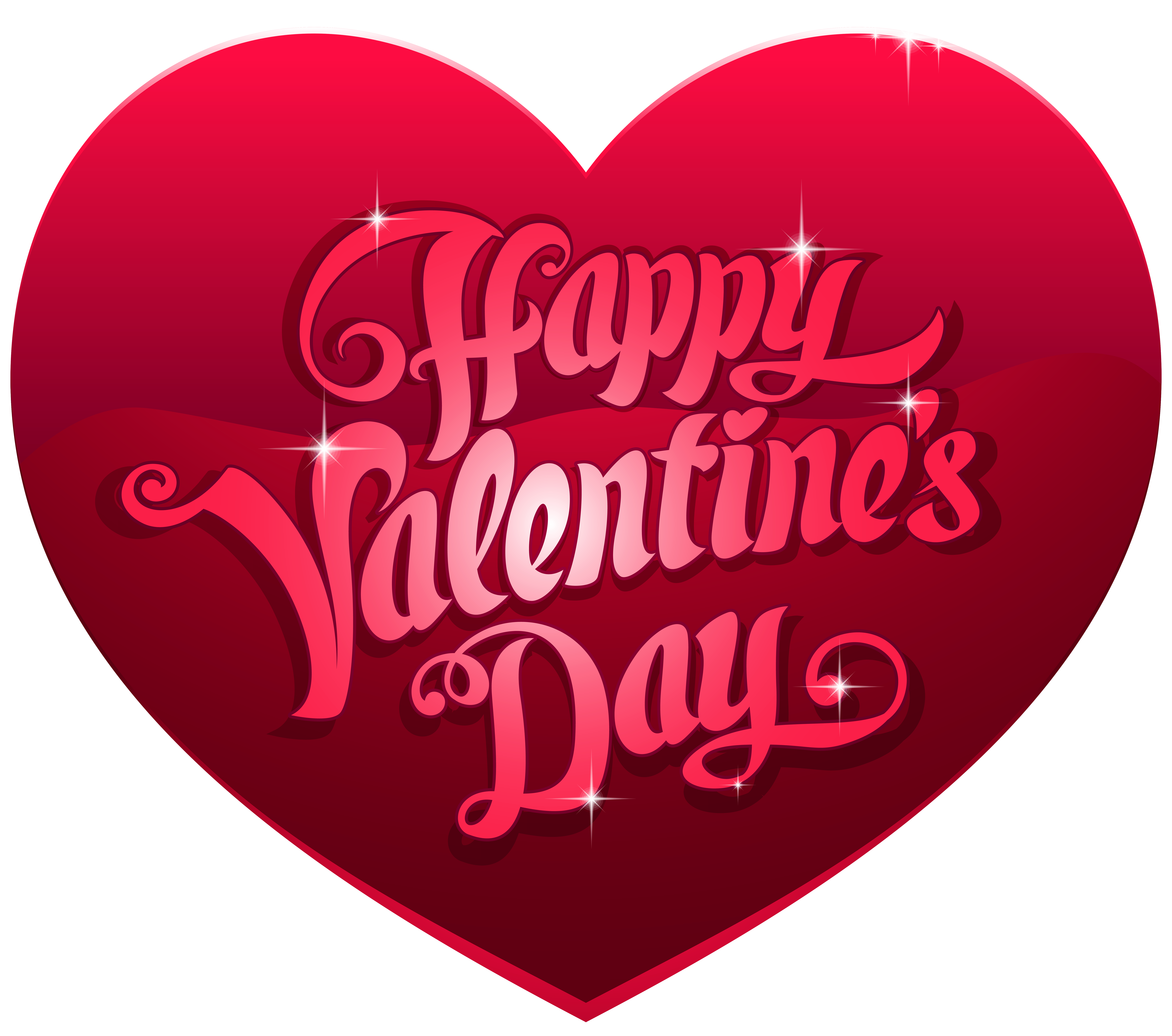 Happy valentines day heart clipart banner transparent Happy Valentine's Day Heart PNG Clip Art Image | Gallery ... banner transparent