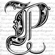 Happy valentines elegant fancy letters clipart transparent banner download classic design of the letter p transparent background - Google ... banner download