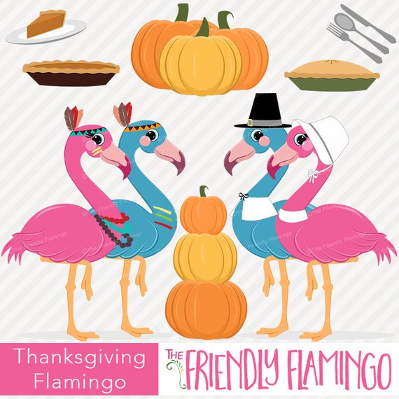 Har clipart clipart freeuse download Thanksgiving flamingo clip art, autumn, indian and pilgrim flamingo ... clipart freeuse download