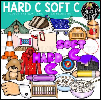 Hard and soft clipart picture royalty free library Hard C Soft C Clip Art Bundle {Educlips Clipart} picture royalty free library