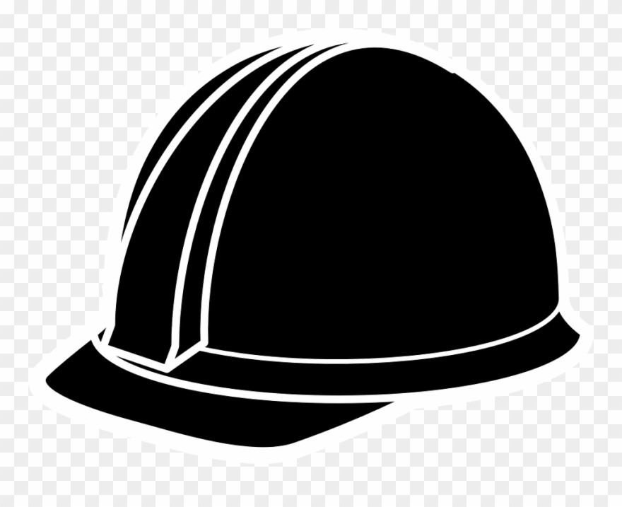 Library Of Wear Safety Helmet Black And White Png Files