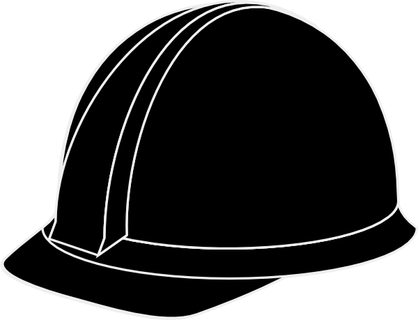 Hard hat clipart black and white vector library Free Construction Hat Cliparts, Download Free Clip Art, Free Clip ... vector library