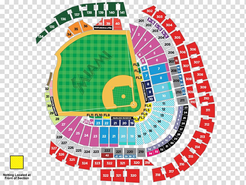 Hard rock stadium clipart clip transparent stock Marlins Park Miami Marlins Hard Rock Stadium Seating assignment ... clip transparent stock