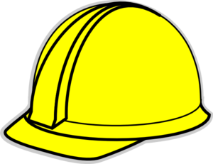 Hardhat clipart clip black and white stock Yellow Hard Hat Clip Art at Clker.com - vector clip art online ... clip black and white stock