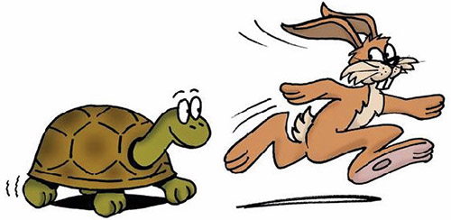 Hare and the tortoise clipart graphic library download Tortoise or Hare? graphic library download