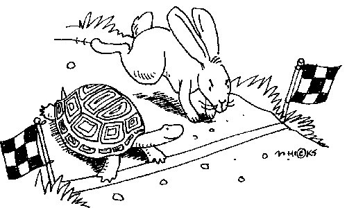 Hare and the tortoise clipart vector free stock Are You a Tortoise or a Hare Leader? Who Wins in the End? - Leading ... vector free stock