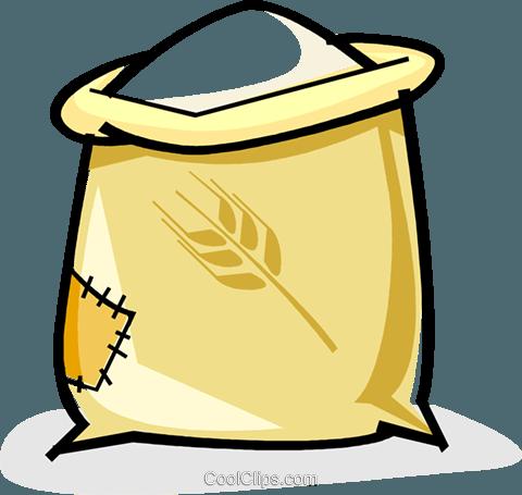 Harina clipart jpg library saco de harina libres de derechos ilustraciones de vectores clipart ... jpg library