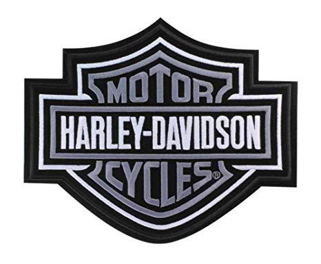 Harley bar and shield clipart clipart royalty free download Harley-Davidson Silver Bar & Shield Patch 2XL 9 1/4\'\' x 7 11/16\'\' EMB302546 clipart royalty free download