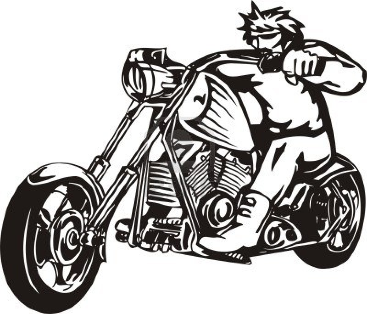 Harley clipart vector library stock Free harley davidson clip art - ClipartFest vector library stock