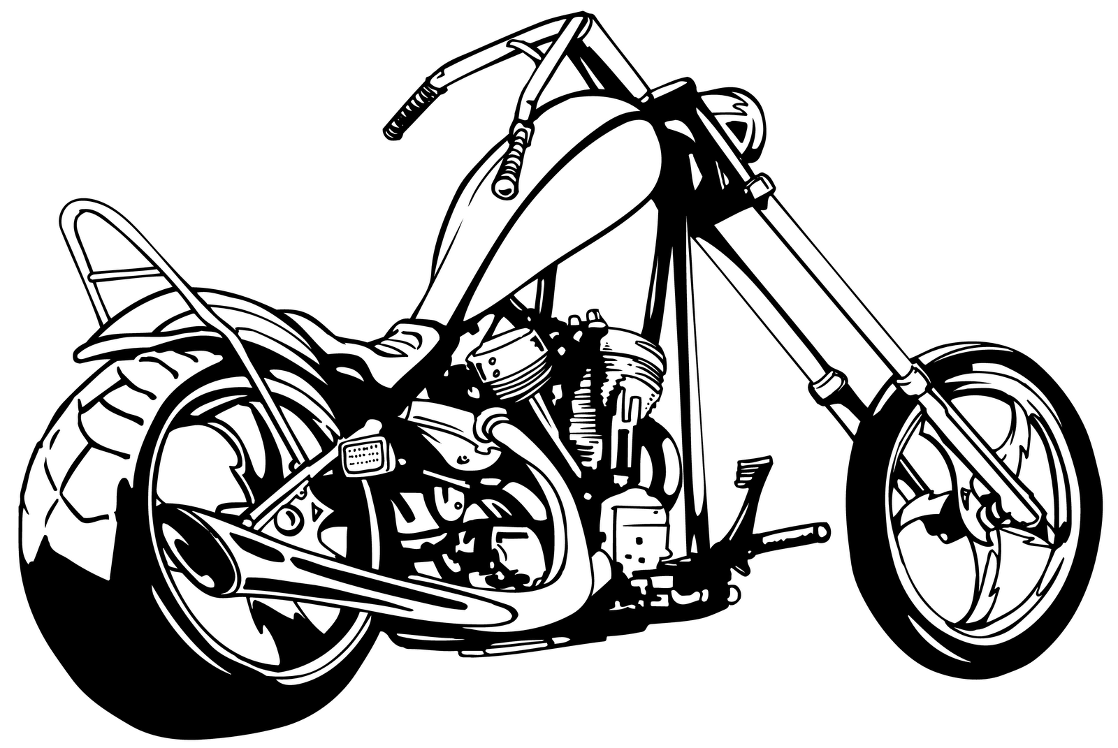 Harley clipart banner royalty free download Harley Motorcycle Black And White Clipart - Clipart Kid banner royalty free download