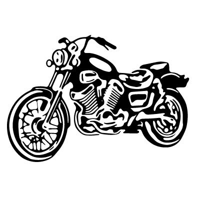 Harley clipart black and white banner stock Motorcycle Clip Art Black and White | MOTOR17 | Flourishes and ... banner stock