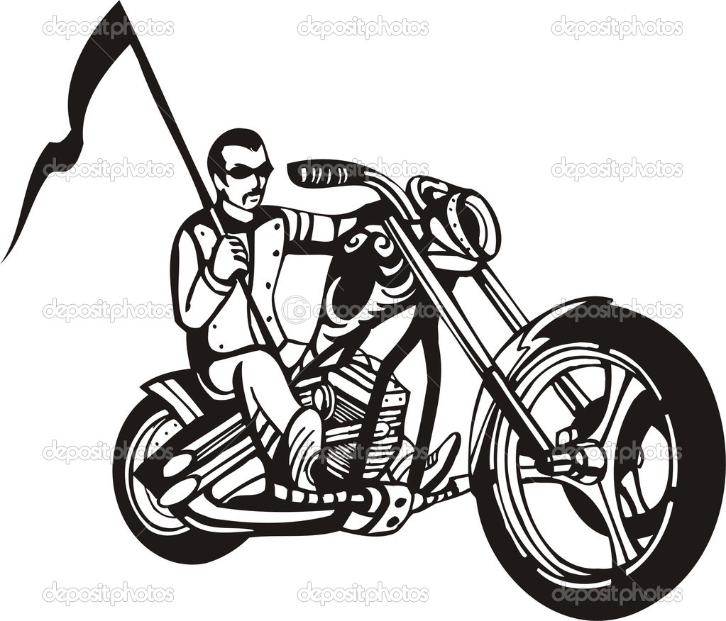 Harley clipart black and white picture black and white Harley Motorcycle Black And White Clipart - Clipart Kid picture black and white