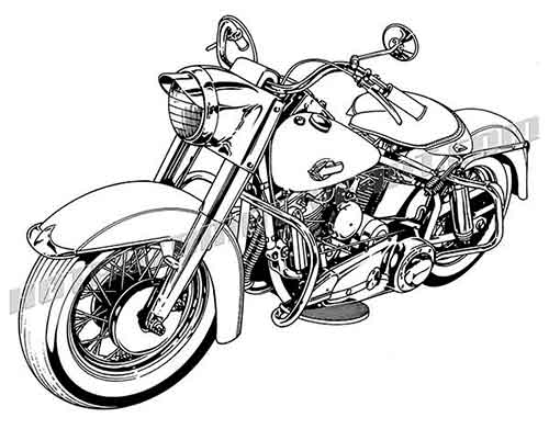 Harley clipart black and white vector free download Harley davidson motorcycle clipart - ClipartFest vector free download
