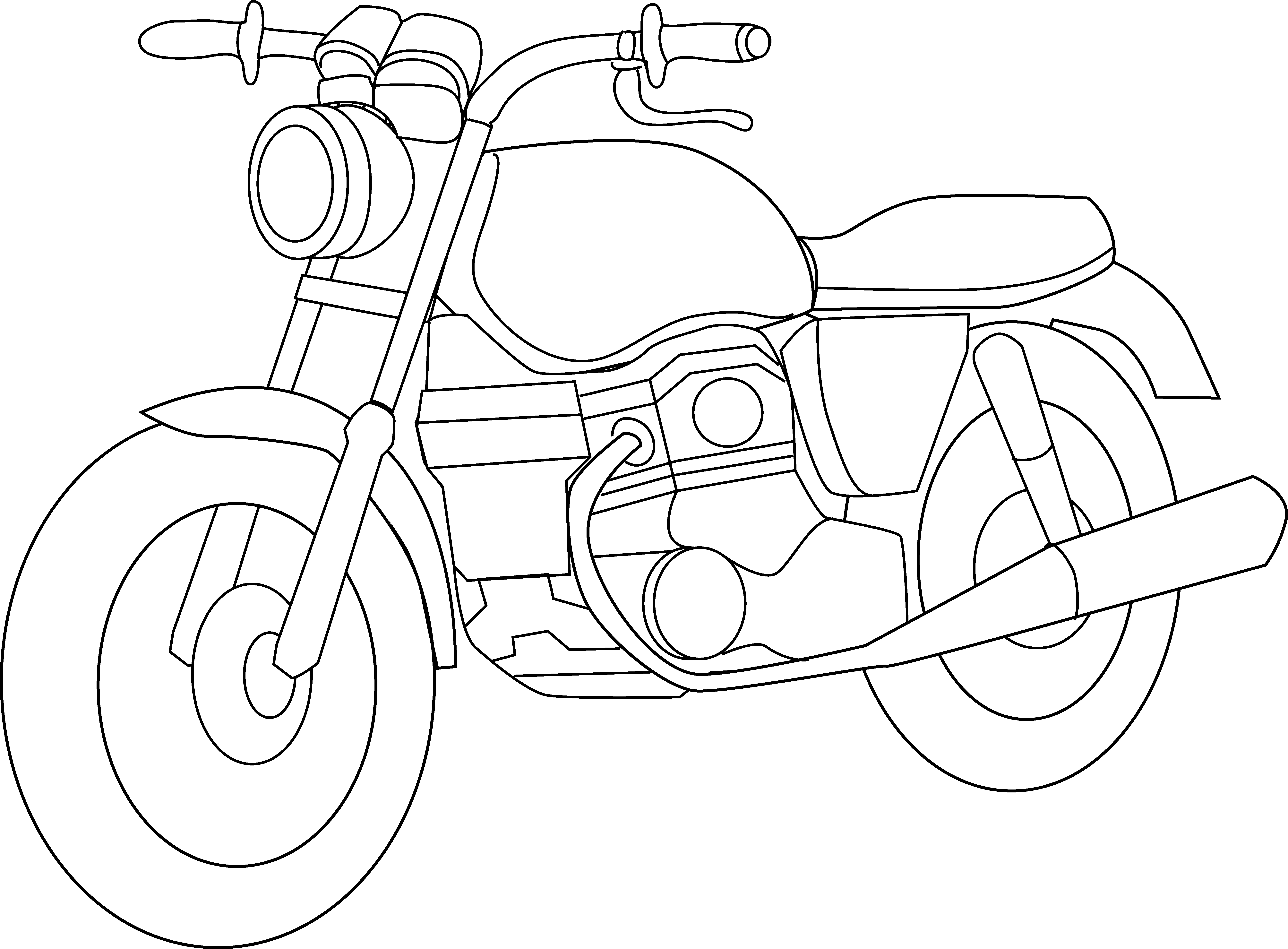 Harley clipart black and white jpg library download Motorcycle Clipart Black And White | Clipart Panda - Free Clipart ... jpg library download