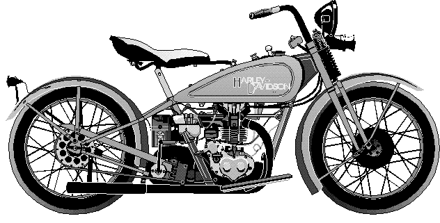 Harley clipart black and white vector black and white Harley Motorcycle Black And White Clipart - Clipart Kid vector black and white