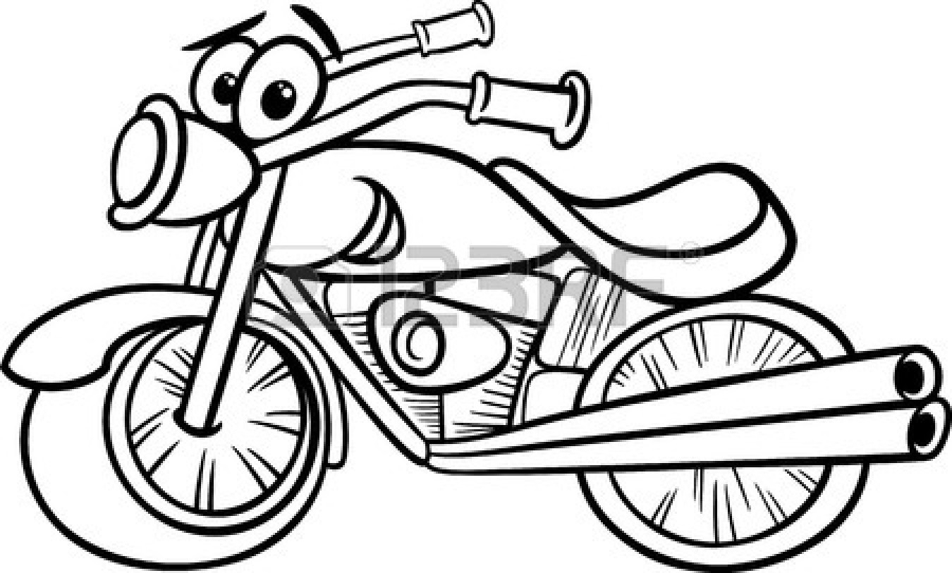 Harley clipart black and white clipart transparent download Harley Motorcycle Black And White Clipart#2142824 clipart transparent download