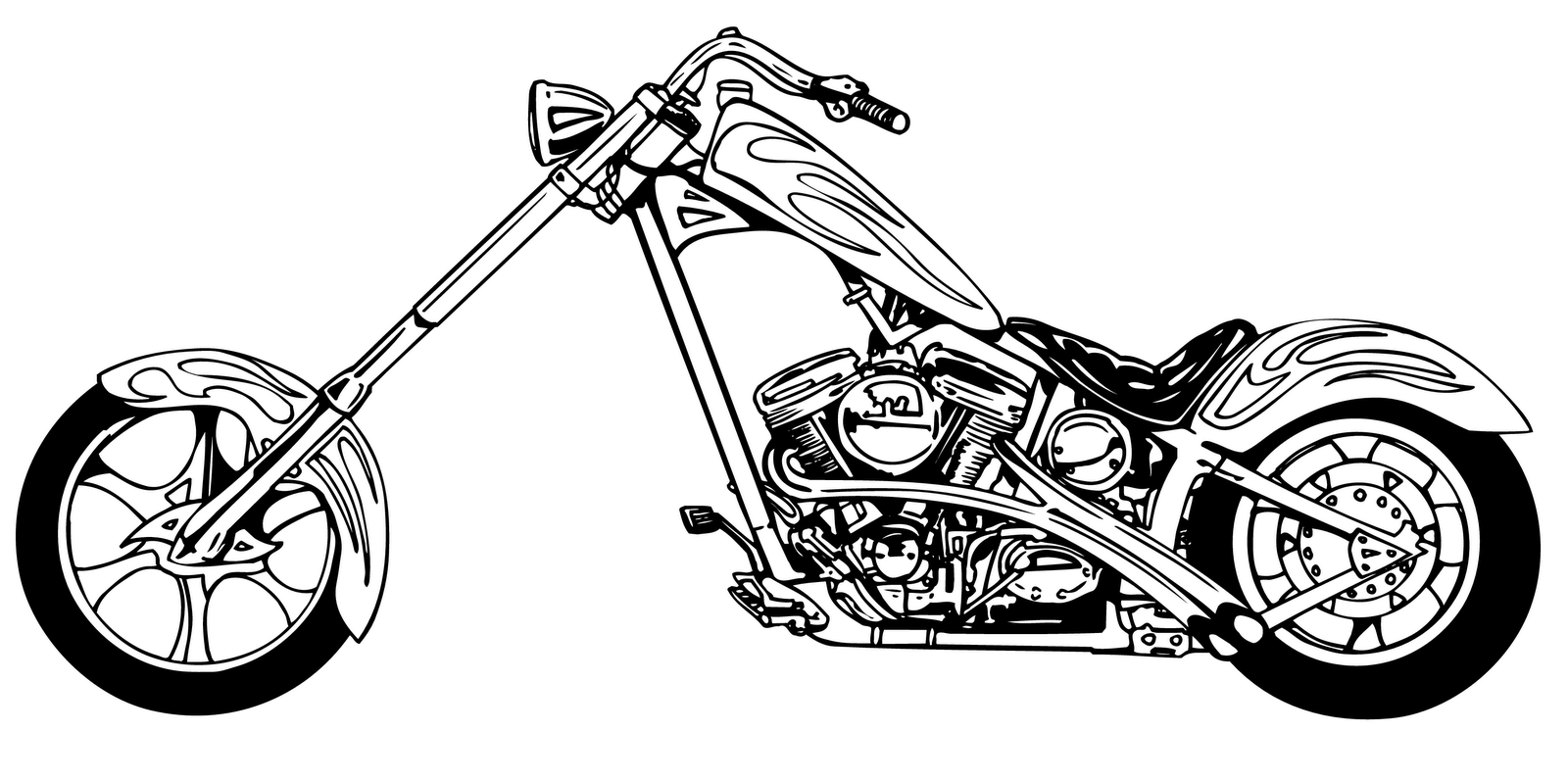 Harley clipart black and white svg free stock Harley clipart black and white - ClipartFest svg free stock