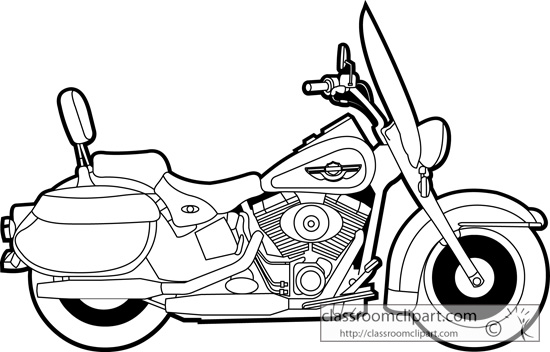 Harley clipart black and white picture black and white library Harley Motorcycle Black And White Clipart - Clipart Kid picture black and white library