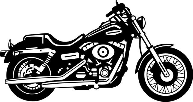 Harley clipart black and white clip Harley davidson clipart black and white - ClipartFest clip