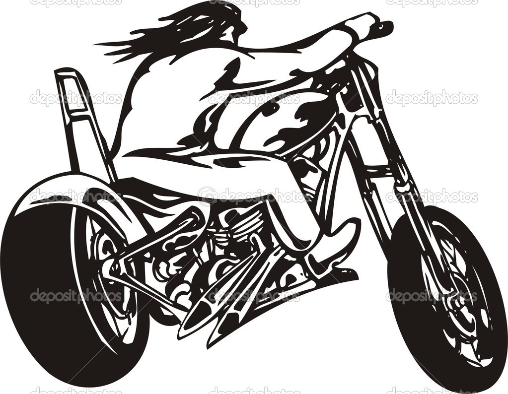 Harley davidson clipart silhouette banner free library Motorcycle Harley-davidson Clipart - Clipart Kid banner free library