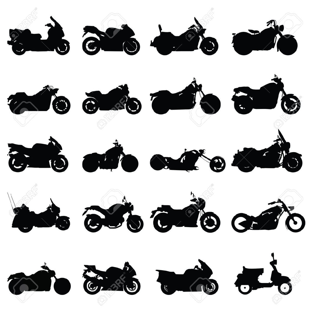 Harley davidson clipart silhouette banner transparent stock Free vector clipart silhouette harley motorcycle - ClipartFest banner transparent stock