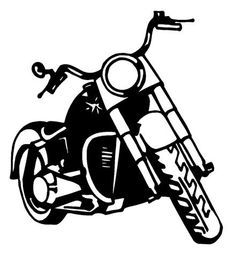Harley davidson clipart silhouette graphic freeuse motorcycle clipart harley | ... of Motorbikes | Choppers | Harley ... graphic freeuse