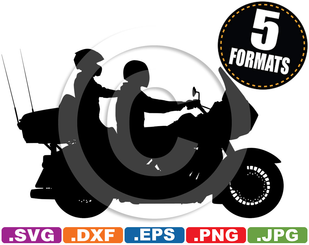 Harley davidson clipart silhouette vector Harley davidson trike clipart - ClipartFest vector