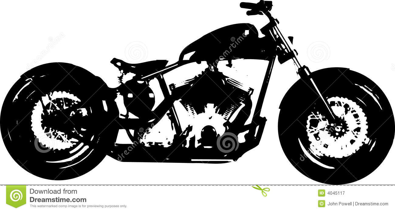 Harley davidson clipart silhouette clipart royalty free download Free vector clipart silhouette harley motorcycle - ClipartFest clipart royalty free download