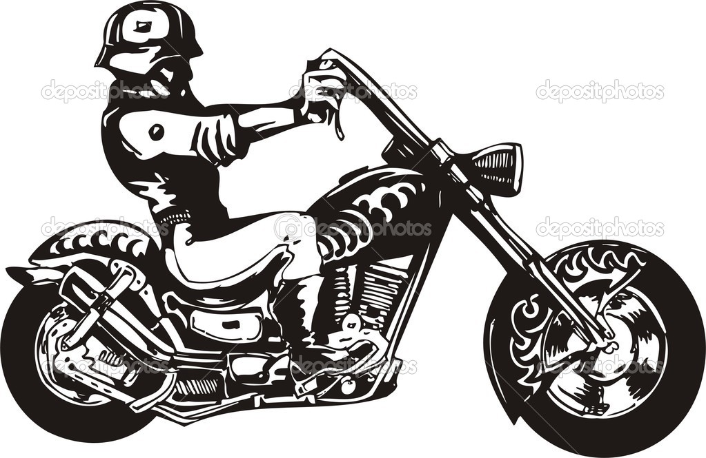Harley davidson clipart silhouette image free library Harley silhouette clipart - ClipartFest image free library
