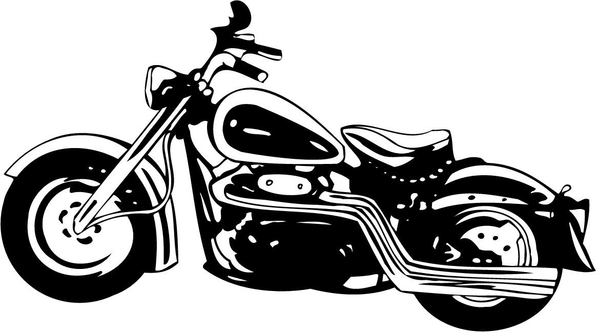 Harley davidson motorcycle clipart free graphic stock Pin by Rachel Lee on Silhouette Cameo | Motorcycle clipart, White ... graphic stock