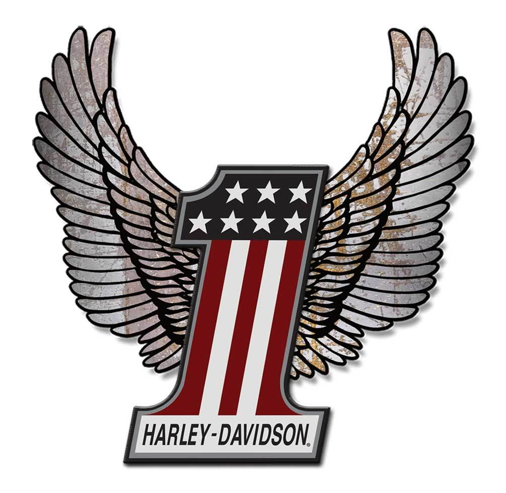 Harley davidson wings clipart royalty free download Harley-Davidson® Aluminum Wings #1 Hardboard Sign, 20 x 23 inch.  ACCU-HD1-HARL royalty free download