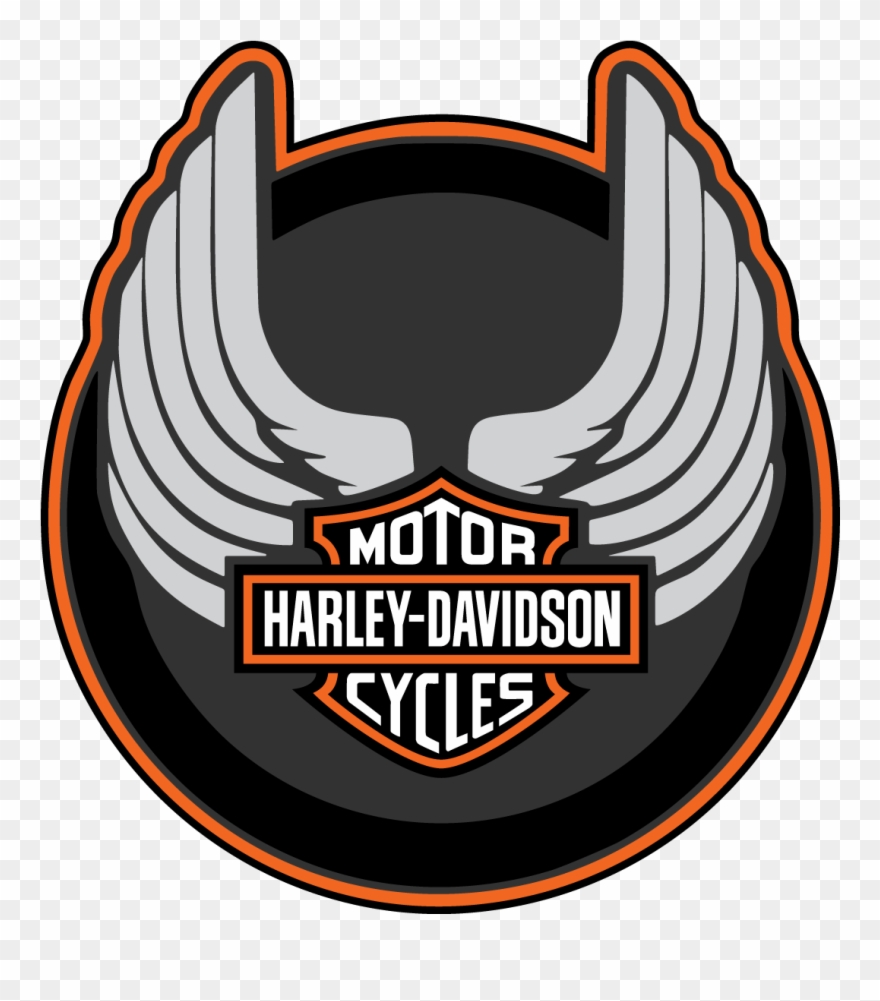 Harley davidson wings clipart picture library download Harley Davidson Wings Round Logo Vector Decal Free - Logo Harley ... picture library download